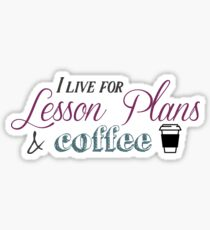 Lesson Plans & Coffee Sticker