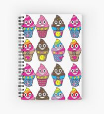 Emoji Poop Ice Cream Rainbow  Spiral Notebook