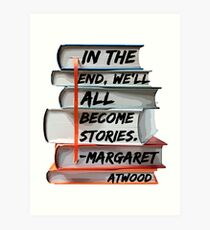 Margaret Atwood and Books  Art Print