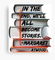 Margaret Atwood and Books  Canvas Print