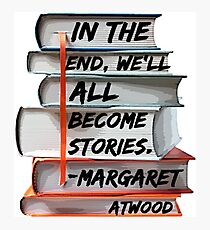Margaret Atwood and Books  Photographic Print