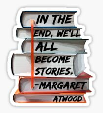 Margaret Atwood and Books  Sticker