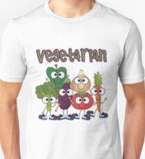 Silly Vegetables Veggies Vegetarian Unisex T-Shirt
