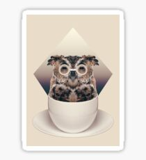 Caffeinimals: Owl Sticker