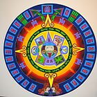 Circle Painting; attributed to Aztec design by richard  webb