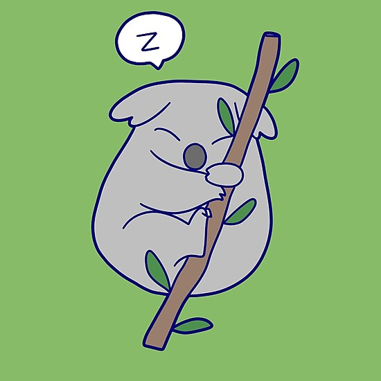 Kawaii Sleeping Koala by SaradaBoru