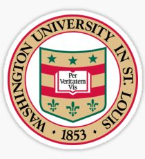 wash u formal logo 2 Sticker