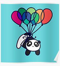 Póster Kawaii Balloon Panda