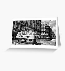Parisien Taxi, Paris, France Greeting Card