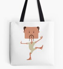 Funny karate man Tote Bag