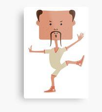 Funny karate man Metal Print
