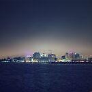 City Glow 1 of DownTown Norfolk Waterside.  by crystofurr