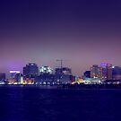 City Glow of DownTown Norfolk Waterside. by crystofurr