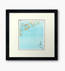 USGS TOPO Map Republic of Palau PW Koror 462397 2000 25000 Framed Print
