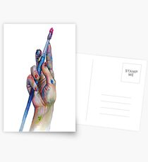 Painter's Hand Postcards