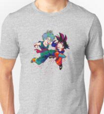 Trunks vs Goten - watercolor T-Shirt