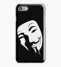 V for vendetta mask iPhone Case/Skin