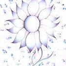 Pointillism Flower by Megan Stone