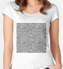 Pencil Sketch Women's Fitted Scoop T-Shirt