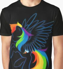 Rainbow Dash Abstract 2 Graphic T-Shirt