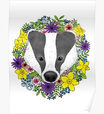 Spring Badger Poster