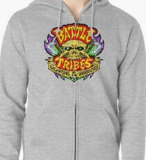Battle Tribes Skull Logo (Distressed) Zipped Hoodie