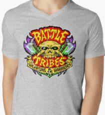 Battle Tribes Skull Logo (Distressed) Men's V-Neck T-Shirt