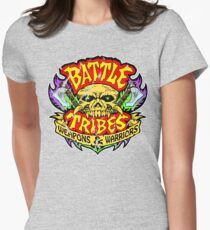 Battle Tribes Skull Logo (Distressed) Women's Fitted T-Shirt