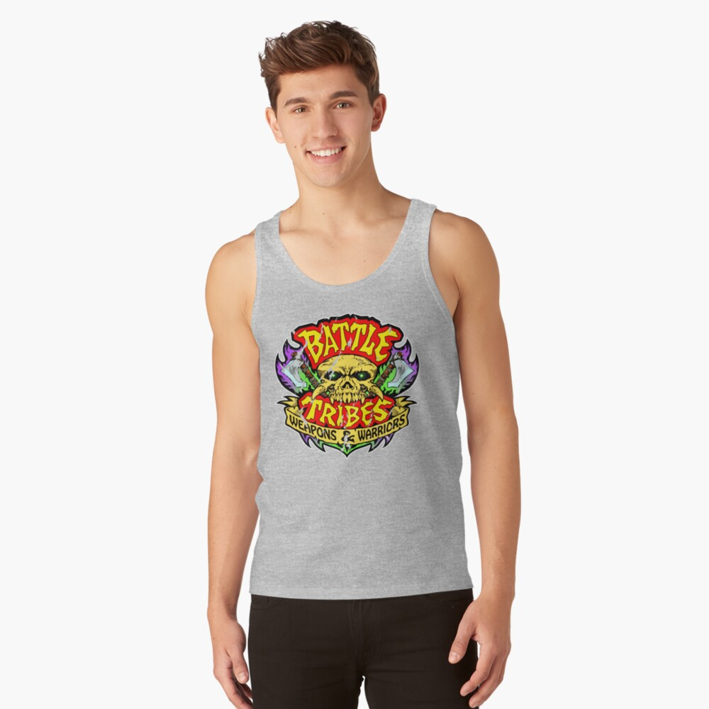 Battle Tribes Skull Logo (Distressed) Tank Top