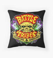 Battle Tribes Skull Logo Throw Pillow