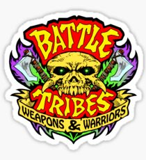 Battle Tribes Skull Logo Sticker