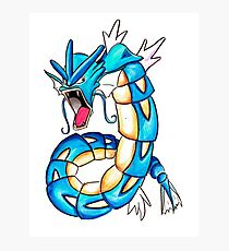 Gyarados watercolor Photographic Print