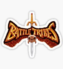 Battle Tribes Sword Logo  Sticker