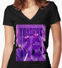 Yandere  Women's Fitted V-Neck T-Shirt