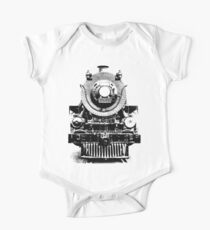 Vintage steam train illustration One Piece - Short Sleeve