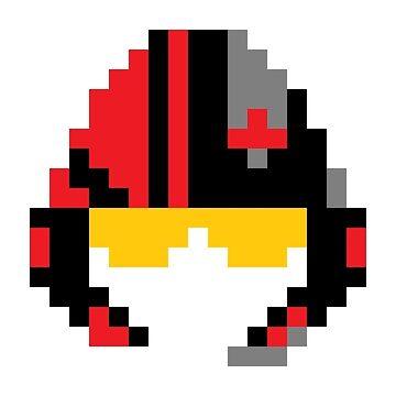 8-Bit Poe Helmet by CreamFraiche