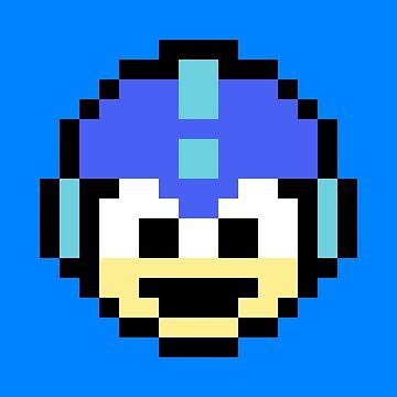 Megaman Head by CreamFraiche