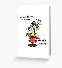 Old lady humor greeting cards redbubble humorous burn dinner greeting card m4hsunfo