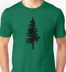 Plain Black Tree | Doug Fir/Pine/Evergreen T-Shirt