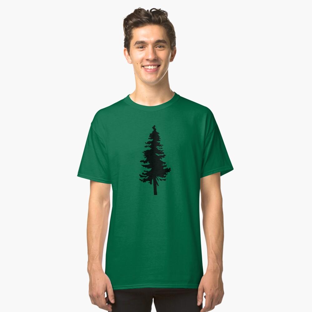 Plain Black Tree | Doug Fir/Pine/Evergreen Classic T-Shirt Front