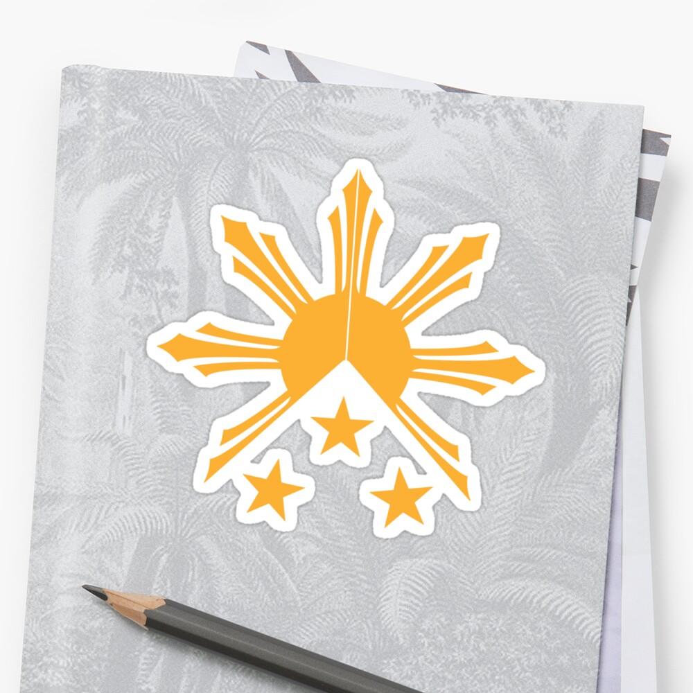 Tribal Philippines Filipino Sun and Stars Flag\