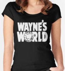 Wayne's World (HD vector graphic) Women's Fitted Scoop T-Shirt