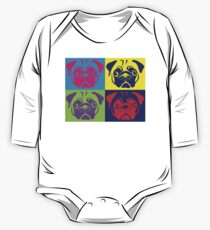 Pug Pop Art By AiReal Apparel One Piece - Long Sleeve