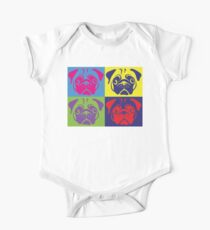 Pug Pop Art By AiReal Apparel One Piece - Short Sleeve
