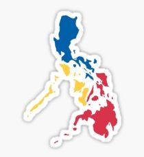 Philippines Filipino Map Sun and Stars Flag Sticker