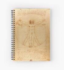 Vitruvian Man - Leonardo da Vinci Spiral Notebook