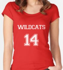 WILDCATS TROY BOLTON HIGH SCHOOL MUSICAL Women's Fitted Scoop T-Shirt