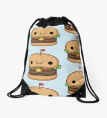 kawaii burger Drawstring Bag