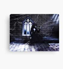 Haunted Interior and Ghost Canvas Print