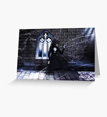 Haunted Interior and Ghost Greeting Card